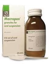 Макропен, гран. д/сусп. д/приема внутрь 175 мг/5 мл 20 г №1