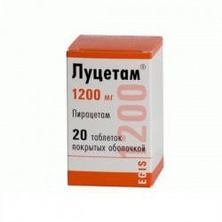Луцетам, табл. п/о пленочной 1.2 г №20