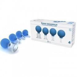 Банки вакуумные полимерно-стеклянные, №4 бв-01 массажный набор диаметр 50мм + 33мм + 22мм + 11мм
