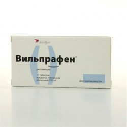 Вильпрафен, табл. п/о пленочной 500 мг №10